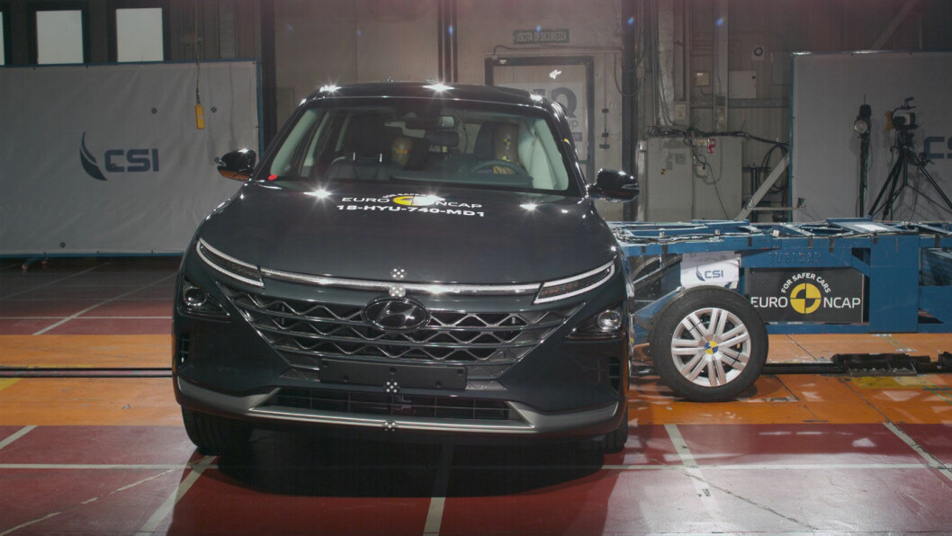 SIKRESTE SUV: Hydrogenelektriske Hyundai Nexo gjorde det best i krasjtest i den prestisjefylte SUV-klassen. Foto: Euro NCAP