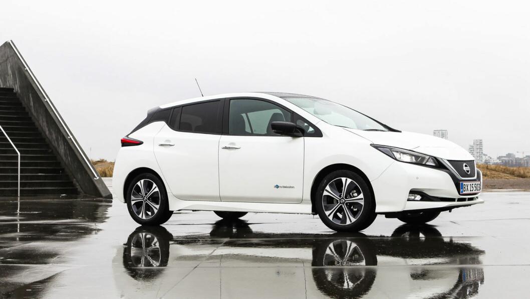 SALGSTOPP: Norges mestselgende bil, Nissan Leaf, er nå levert ut til mer enn 10.000 nye kunder i 2018.
