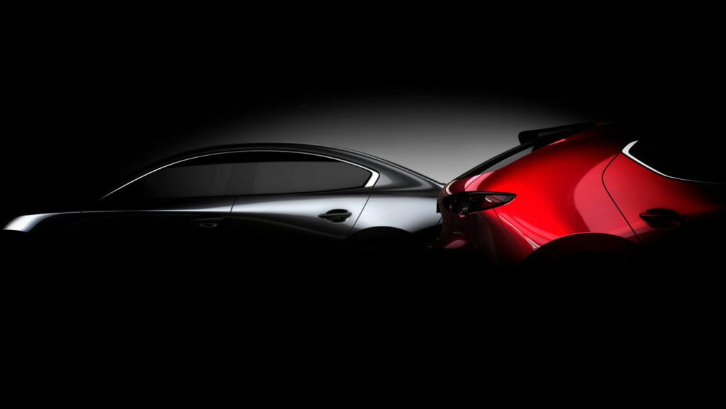 SPENNING: Det er ikke mye offentligheten har fått sett av nye Mazda 3, men ryktene forteller at den likner svært på konseptbilen «Kai».