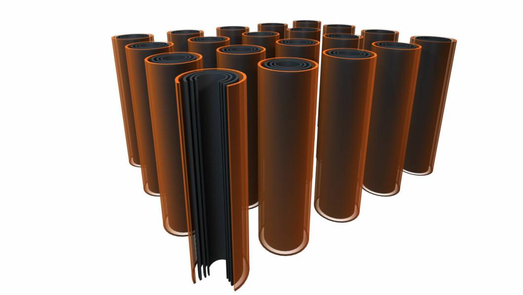 TANNBØRSTE: NAWA har utviklet en teknologi hvor karbonstrukturen står rett opp-ned. Det innebærer at ladingen går mye raskere enn på litium-ion-batterier.