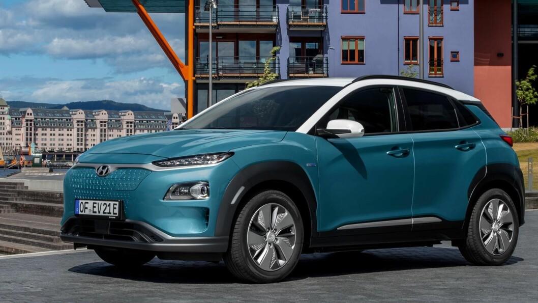 KONA GÅR LENGER: Oppgradert batteripakke gjør at Hyundai Kona nå får en offisiell rekkevidde på 484 kilometer, mot tidligere 449. Foto: Jon Terje Hellgren Hansen