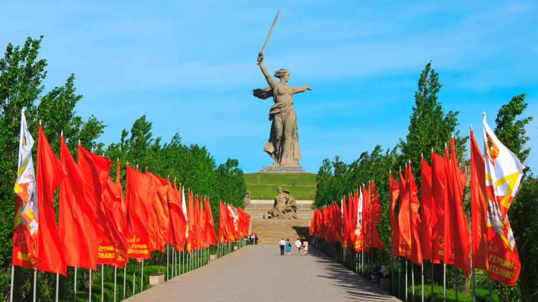 «MODERLANDET KALLER»: Monumentet over heltene etter slaget om Stalingrad.