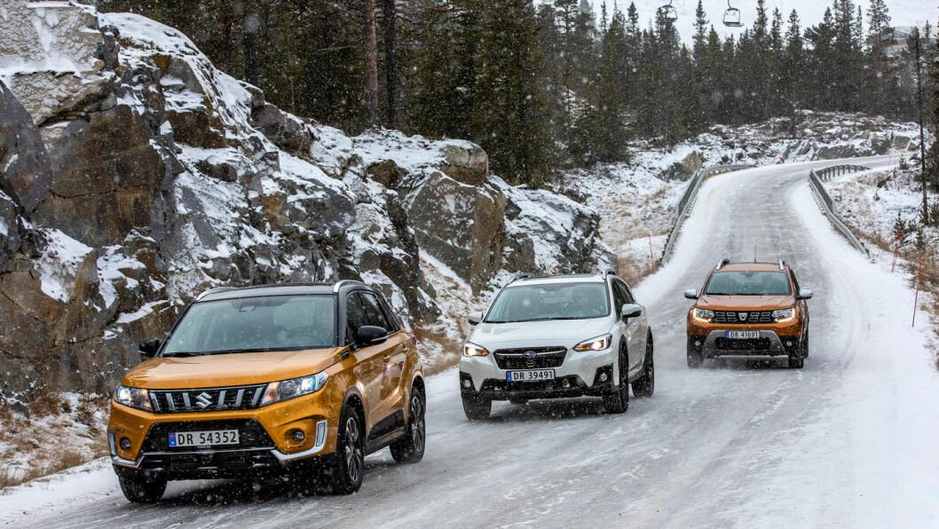 TØFF PÅ VINTERVEIEN: Motor har testet tre kompakte SUV'er med firehjulstrekk. Foto: Tomm W. Christiansen