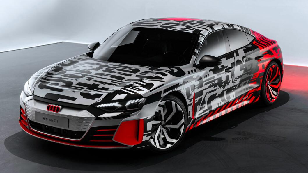 SPORTY: Her er det som blir Audis raskeste elbil –e-tron GT. Bilen bygges på samme plattform som Porsche Taycan. Produksjonsstart: 2020.