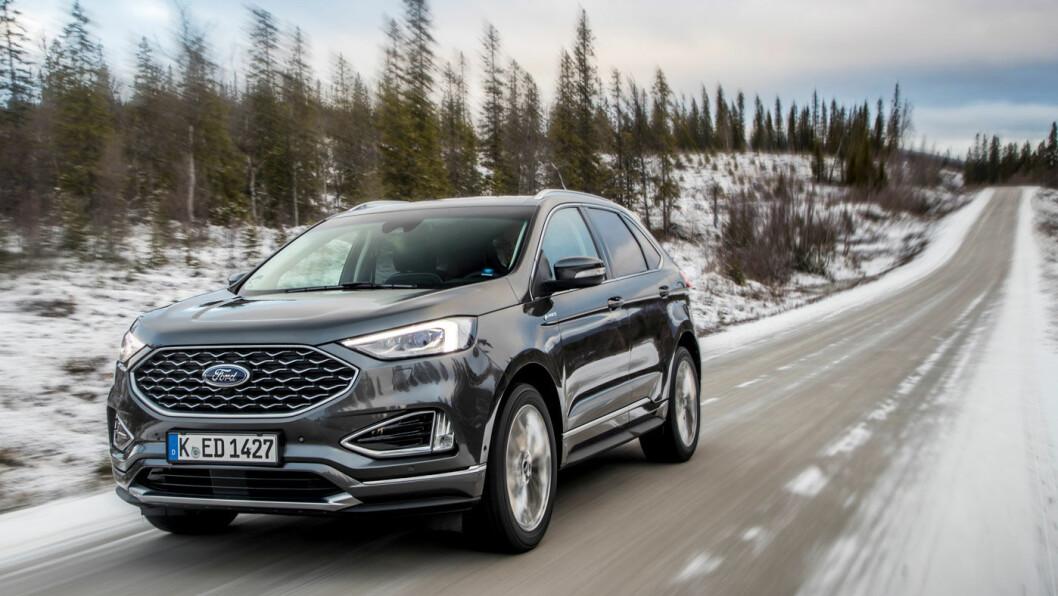 SATSER TUNGT: Fords største SUV i europeisk målestokk, Edge, er stappfull av det beste Ford har å by på.