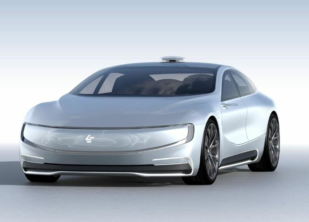 LEECO: Med denne selvkjørende elektriske bilen satser mediegiganten LeEco på bil. Foto: LeEco