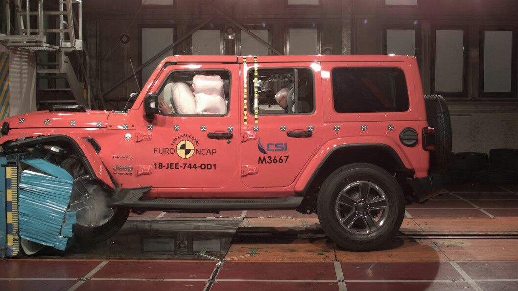 SKANDALE: Helt nye Jeep Wrangler får bare en stjerne i årets siste euro NCAP-test.