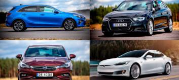 Disse bilmerkene leases minst – og mest