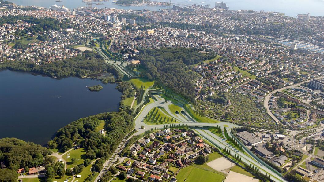 KOSTBART: Ryfast-prosjektet skal ferjefri forbindelse mellom Ryfylke, Hundvåg og Stavanger – samt tunnel under deler av Stavanger sentrum. Det byr på unik ingeniørkunst, men prisene kan bli stive. Foto: Statens vegvesen