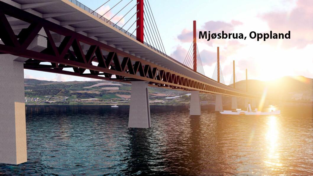 NY BRO OVER MJØSA: Innen 2025 kan ny Mjøsbru stå klar – og den kan bli bygget i tre.