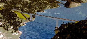 Bygger bru 130-140 meter over vannflaten