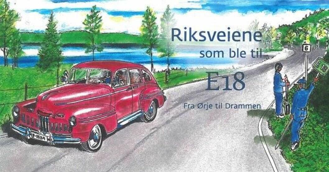 """NOSTALGI: I boken """"Riksveiene som ble til E18"""" beskriver forfatterne i tekst og bilder hvordan E18 har utviklet seg fra kongevei til motorvei. Foto: Per Johansen"""