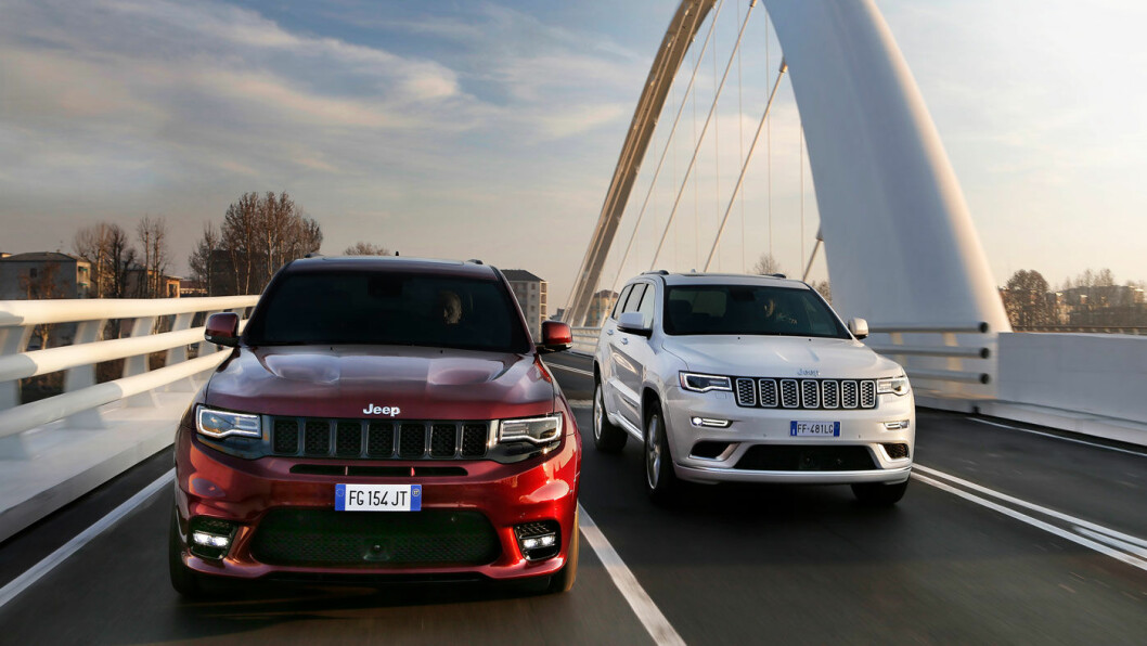 DØMT: Fiat Chrysler må betale milliardbot for å ha montert ulovlig programvare i blant annet Jeep Grand Cherokee, men nekter for å ha gjort noe galt. Foto: Jeep