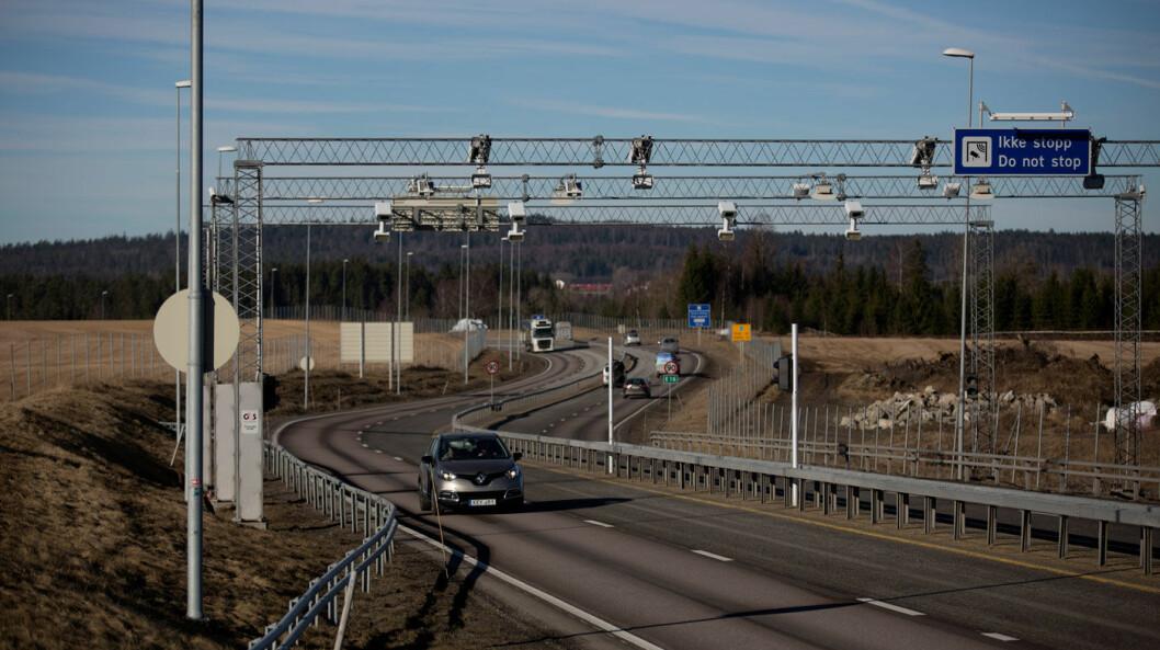 I FARTA: Høyere fartsgrense på strekningen fra Kløfta til Nybakk har gitt kjøring i litt høyere fart.