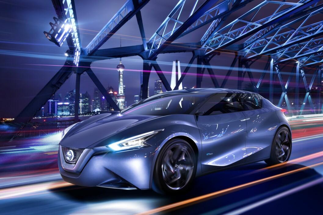 BARSK: Nye Nissan Leaf får et betydelig barskere utseende, noe denne konseptbilen antyder. Leaf er verdens mest solgte elbil så langt. Foto: Nissan