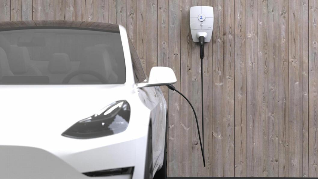 HJEMMEBANE: Norske Zaptec lanserer nå en ny ladestasjon for installasjon i privat garasje eller biloppstillingsplass.