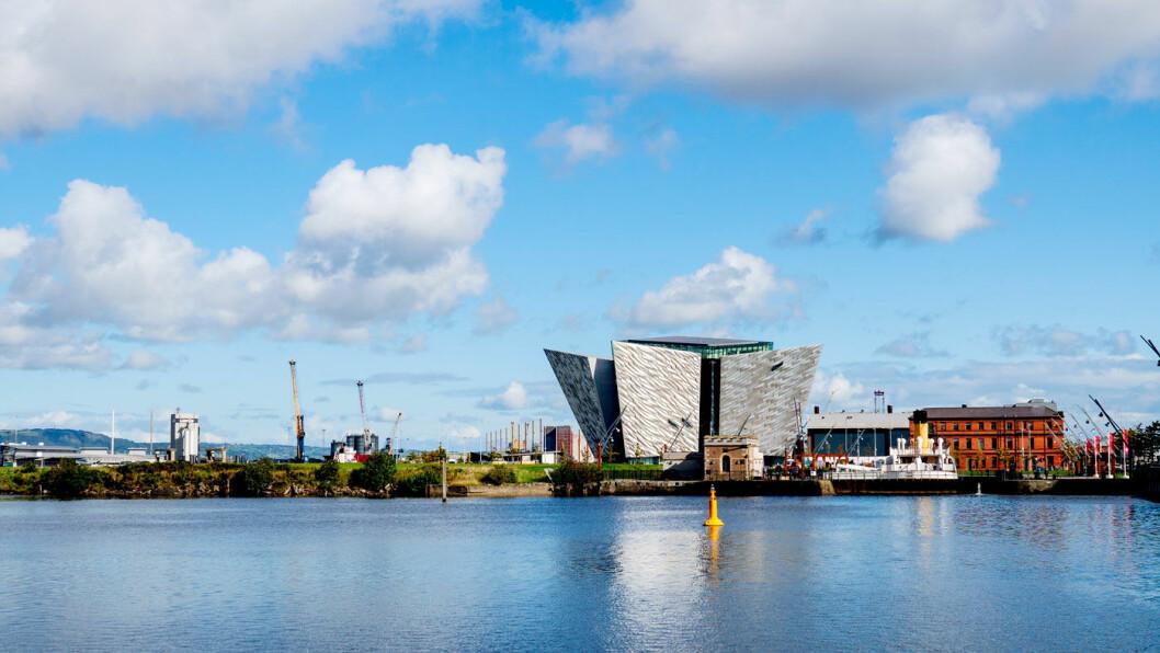 TITANIC-MUSEET: Titanic som sank under jomfruturen, ble bygget ved et verft i Belfast.