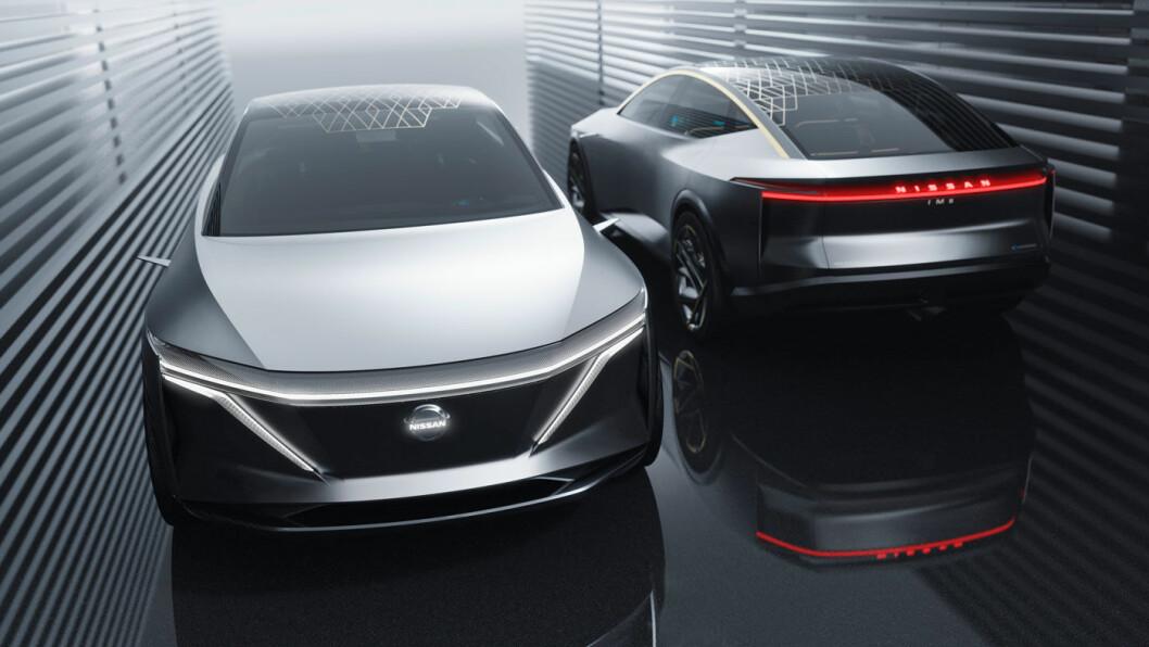 HEFTIG: Slik ser Nissans elektriske framtidsvisjon ut, kalt IMs. Bilen har alt Nissan per i dag kan tilby av teknologi.