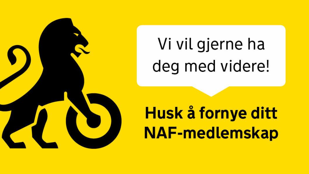 HUSK Å FORNYE MEDLEMSKAPET!