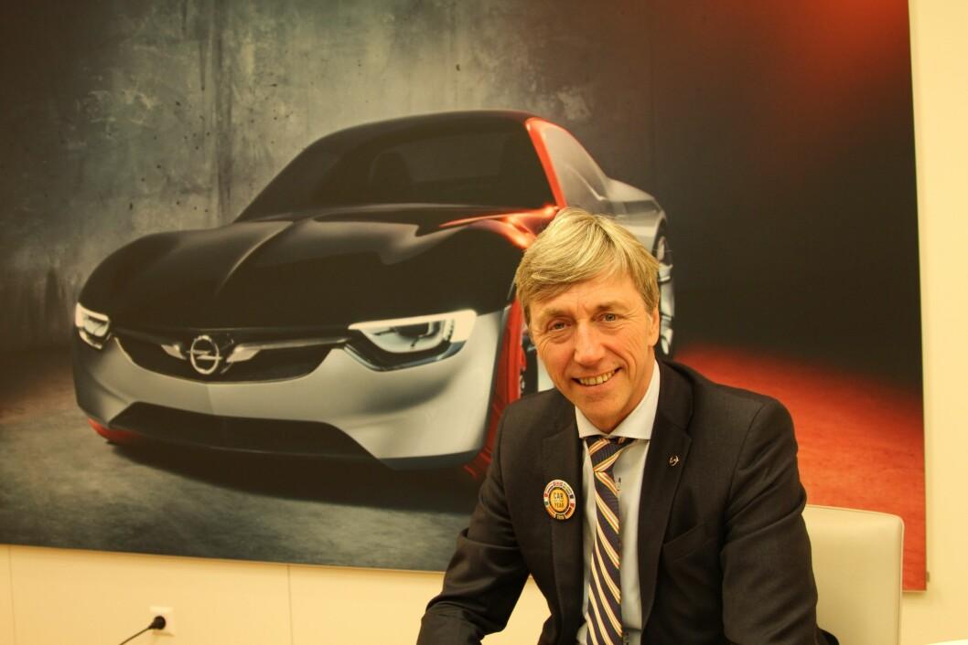 SVÆRT SPENNENDE: – De neste to-tre årene blir svært spennende for oss, med nye modeller som passer perfekt for norske kjøpere, sier Opel-sjef Bernt G. Jessen. Foto: Rune Korsvoll