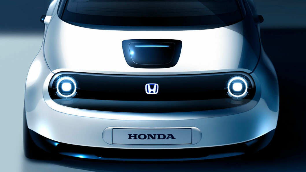 SNERTEN: Honda er snart produksjonsklar med en liten elbil, som ut fra bilder og foreløpige spesifikasjoner, vil bli en spennende tilvekst. Foto: Honda Motor