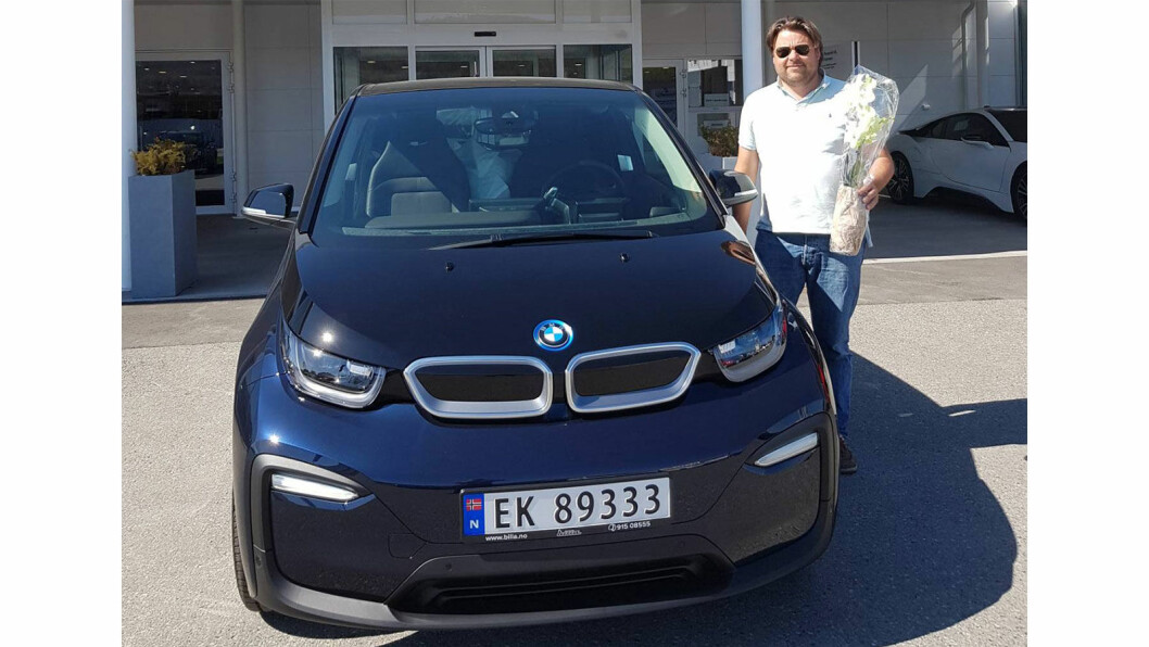 MYE STØY: Harald Kristian Lund, admin på Facebook-forumet BMW i3 Owners Norway og eier av en rekke av BMWs i3-modeller. Foto: Privat