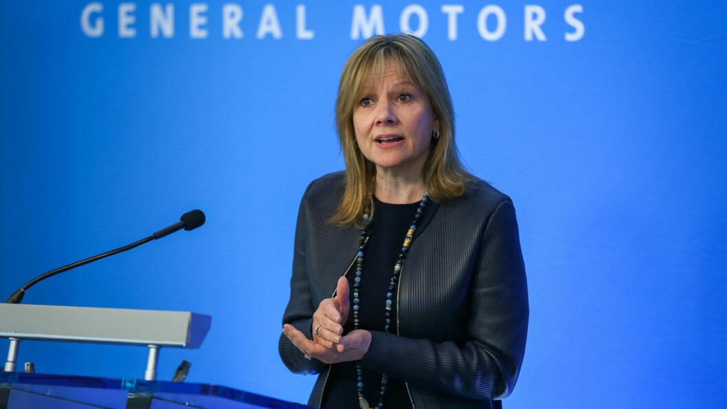 HAR TROEN: Mary Barra, toppsjef i General Motors, har voldsomme ambisjoner. Foto: GM