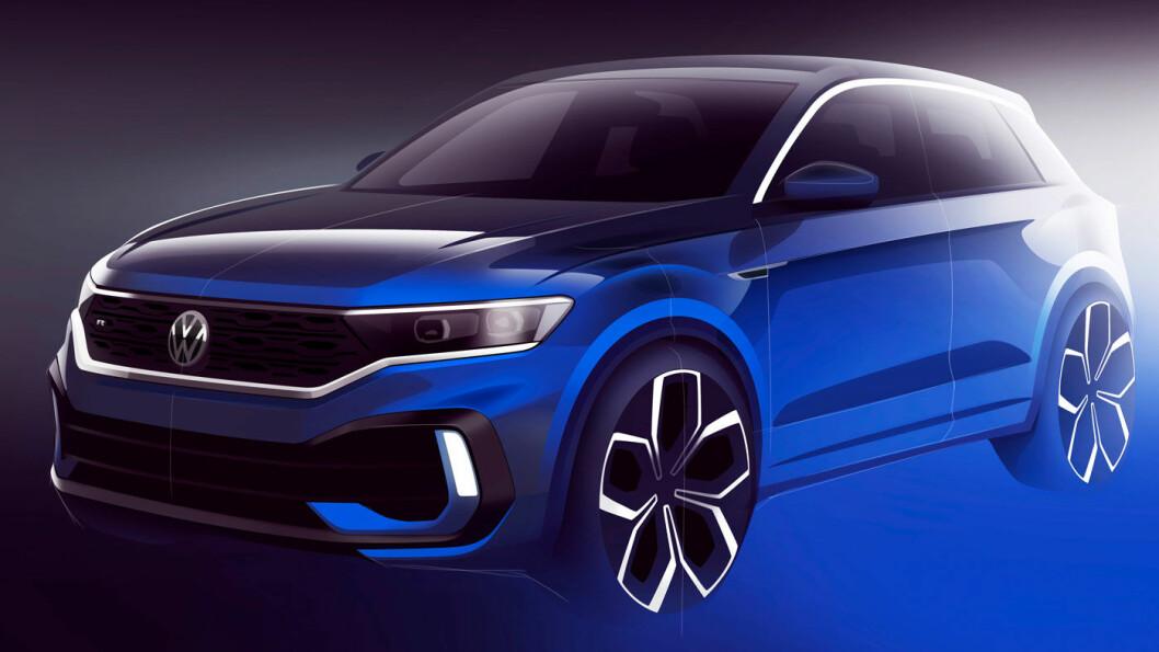 SPORTSLIGERE: Volkswagen kommer med en konseptutgave av kompakt-SUV'en T-Roc R. Foto: Volkswagen AG