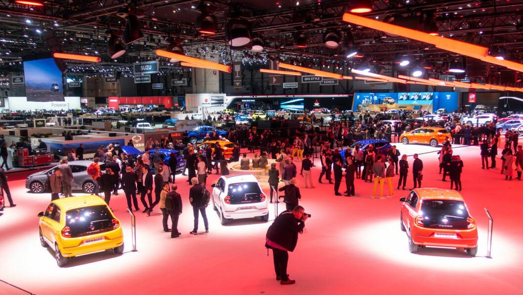 GIGANTMESSE: Bilutstillingen i Genève ventes å samle mellom 650.000 og 700.000 besøkende.