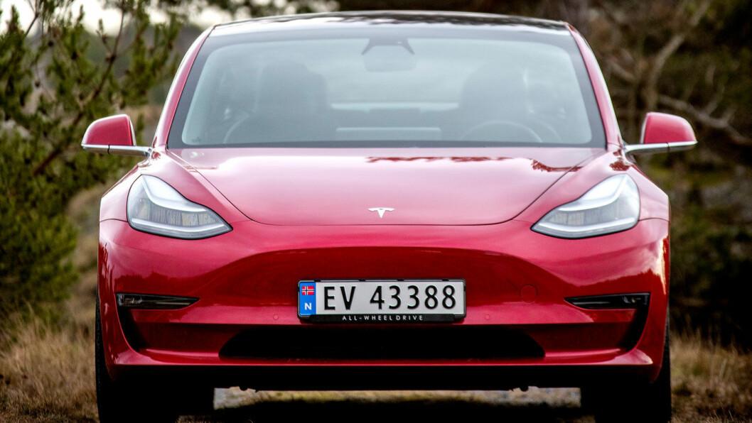 SUKSESS: Februar ble en god måned for Teslas Model 3. Ingen andre elbiler fikk flere nybilregistreringer. Foto: Tomm W. Christiansen