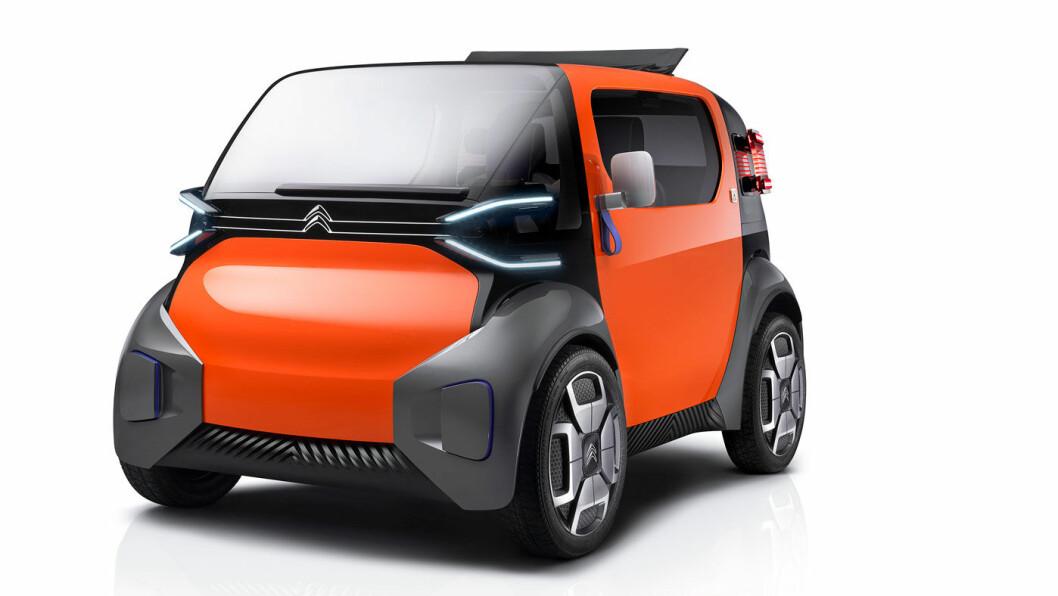 URBANT: Den lille bybilen Ami One skal få 10 mils rekkevidde.