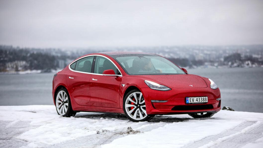 PRISFALL: Tesla Model 3 gikk plutselig ned med 30-50.000 1.mars. Foto: Tomm W. Christiansen