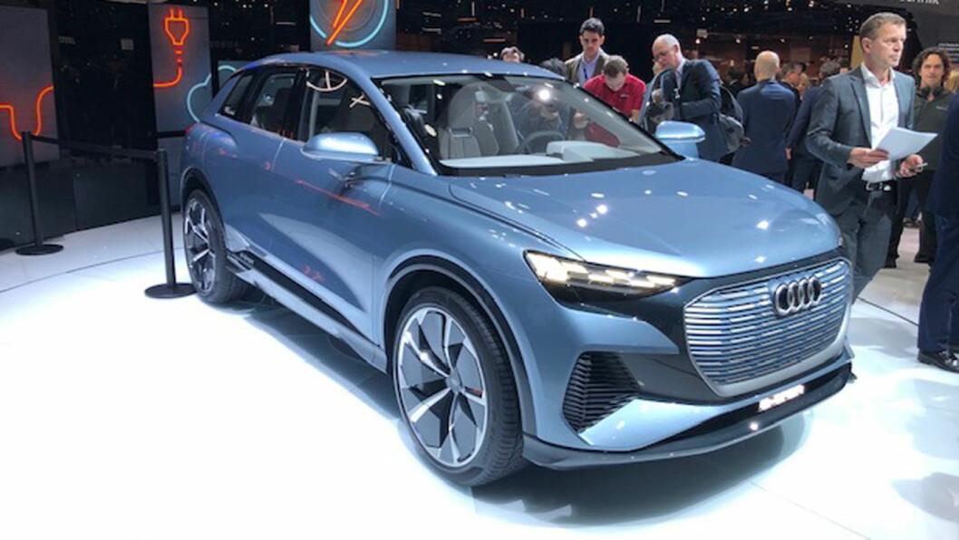 NY EL-SUV: Audi Q4 e-tron kommer i starten av 2021, og går inn i klassen for kompakte SUV'er. Foto: Øivind A. Monn-Iversen