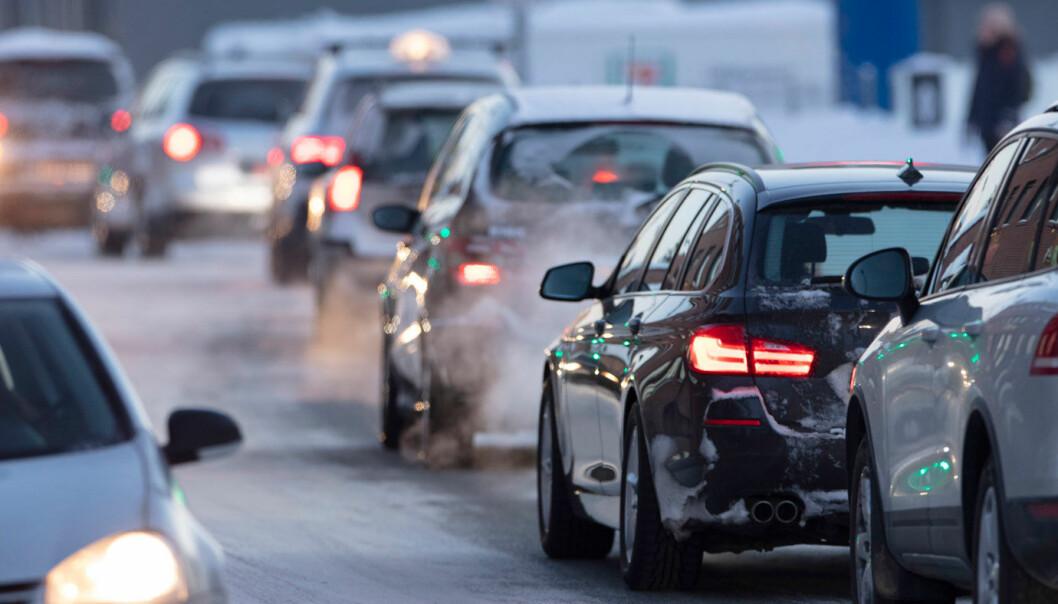 NEDGANG: Utslippene fra veitrafikken går ned, viser nye SSB-tall.
