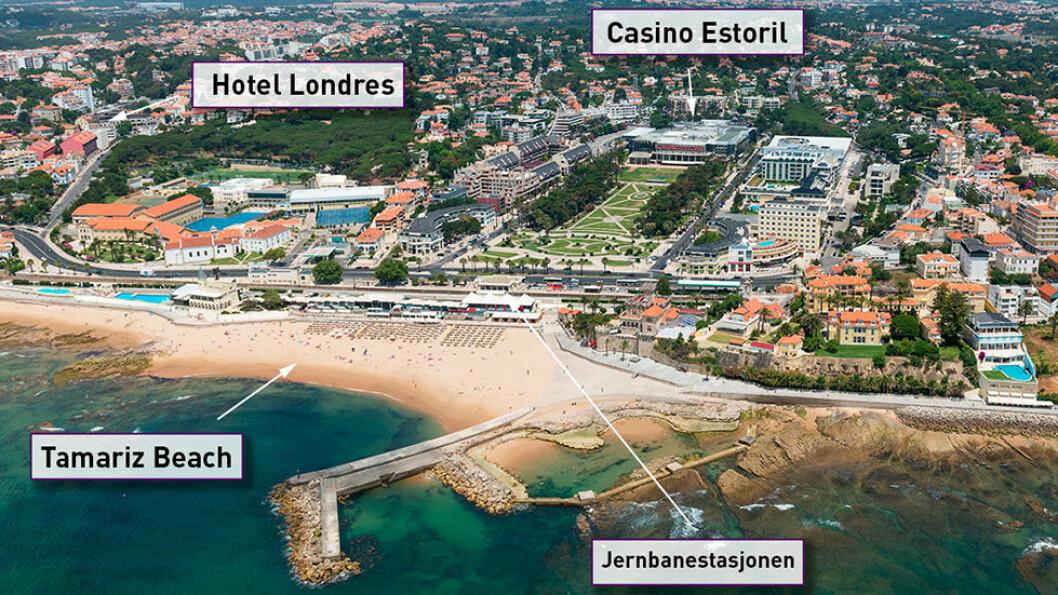 ESTORIL: Hotel Londres er håndplukket til denne turen. Det ligger i gåavstand til stranden og toget som gir mange muligheter for utflukter til Lisboa og resten av Portugal.