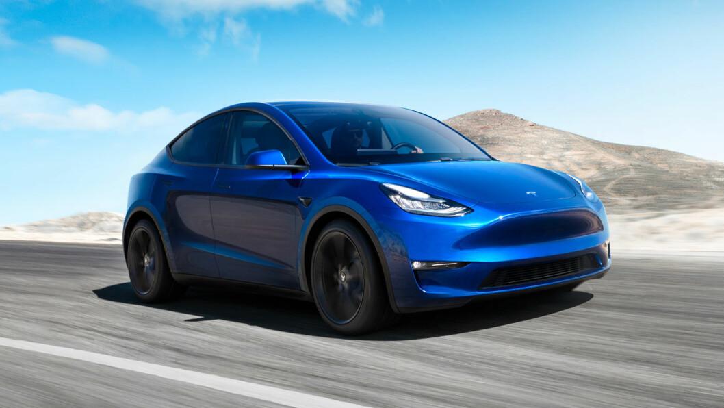NÆR MODEL 3-OPPLEVELSE: Den nye SUV'en har store likhetstrekk med Model 3. Foto: Tesla Motor