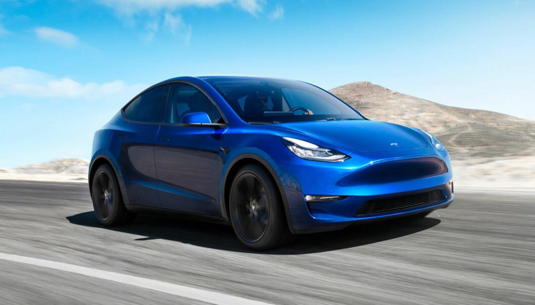 STARTPROBLEMER: Kvaliteten på nye Tesla Model Y kritiseres av eierne.