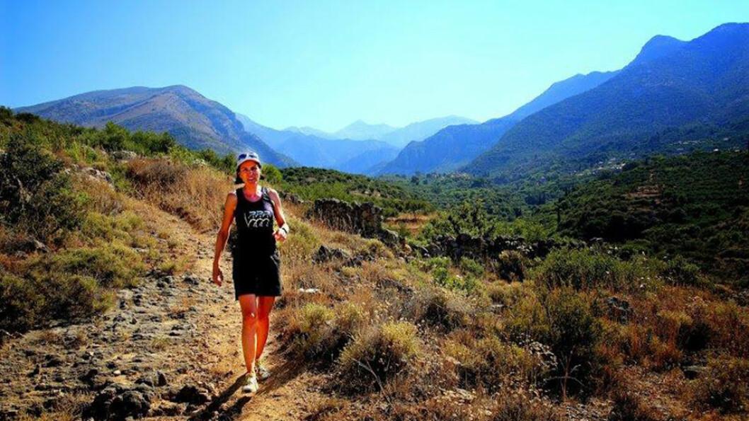 TRENINGSTUR: I Kardamyli i Peloponnes inviterer Hanne Borg Finckenhagen til fantastiske fjellturer. Foto: Mona Langset/Scanpix