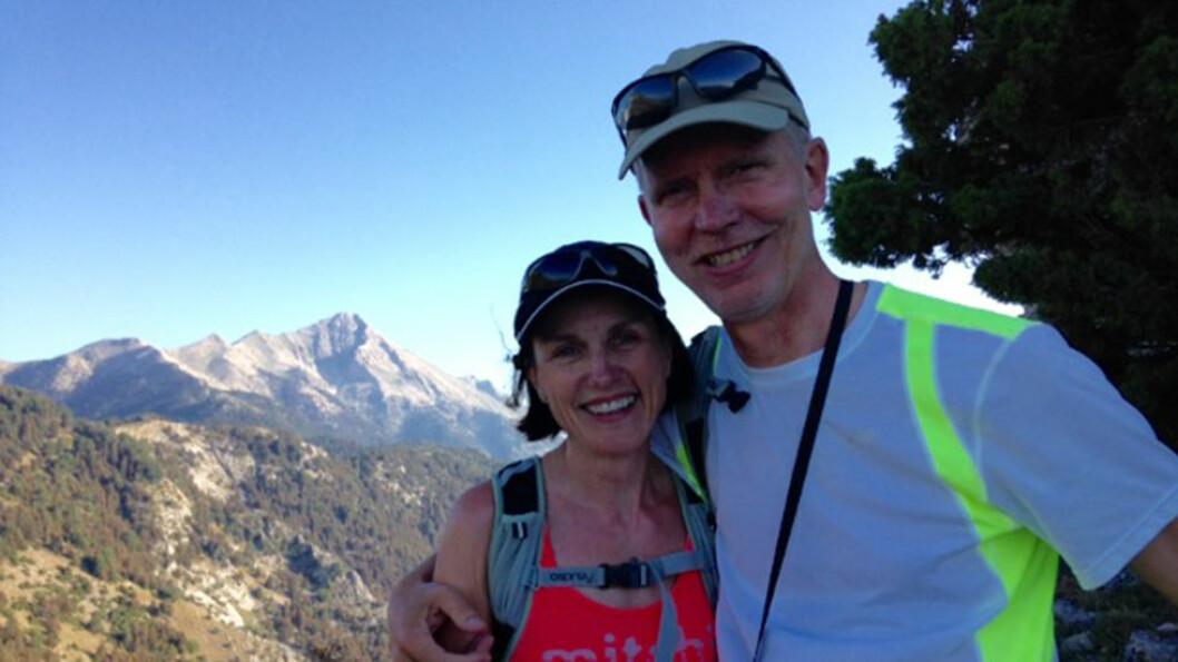 GJØR EN FORSKJELL: Hanne Borg Finckenhagen og mannen Morten er begge opptatt av trening og fjellturer, og begge er med på turen.
