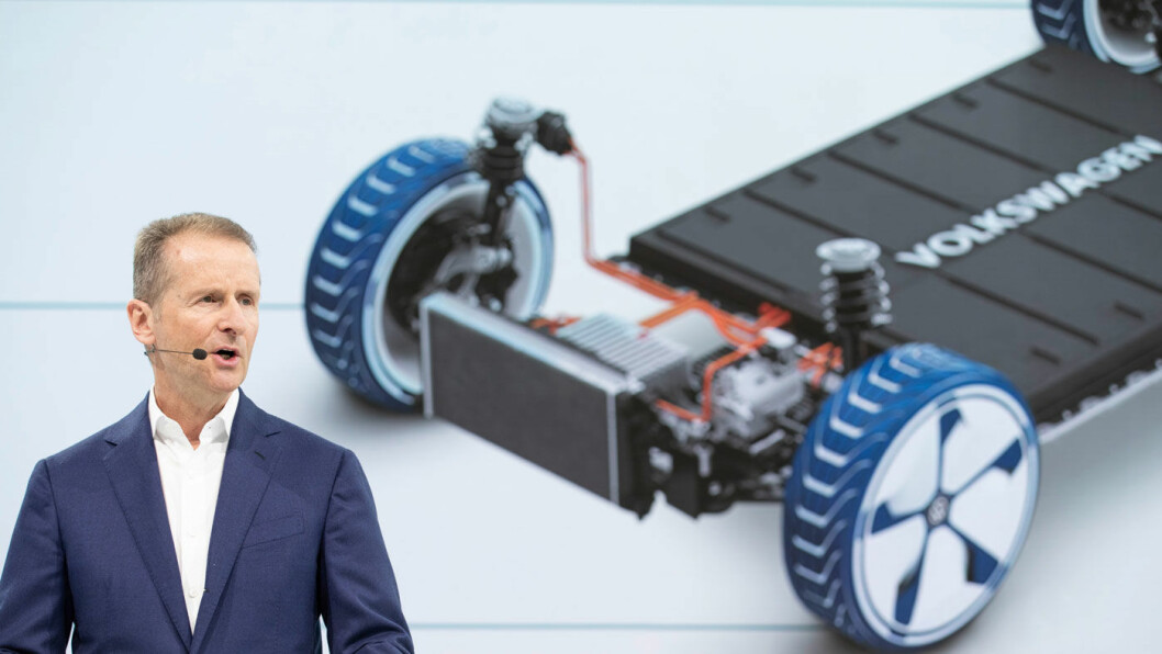 GÅR ELLER STÅR? VW-sjef Herbert Diess blir tiltalt av tysk påtalemyndighet for selskapets involvering i den store dieselskandalen. Foto: VAG