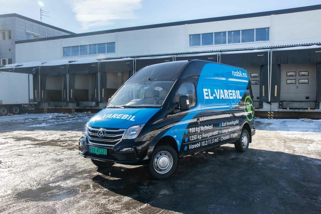 ELEKTRISK VAREBIL: Maxus EV80 er en romslig og smidig elvarebil, og er en helt ny aktør på det norske markedet.