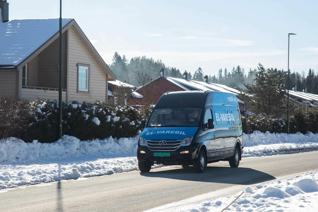 «LANGKJØRING»: Rekkevidden på Maxus EV80 er på over 180 kilometer. Lettlastet er den testet opp mot 200 kilometer.