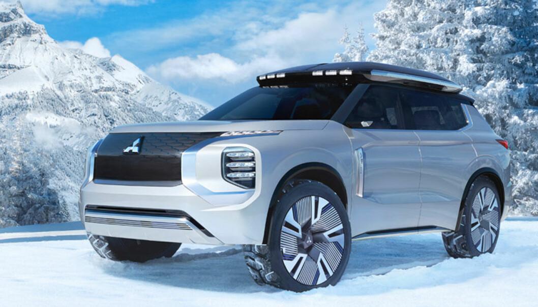 <b>SPENNENDE: </b>Mitsubishi har varslet en ny retning med arvtakeren til Outlander. I fjor ble den vist som konseptbilen Engelberg.