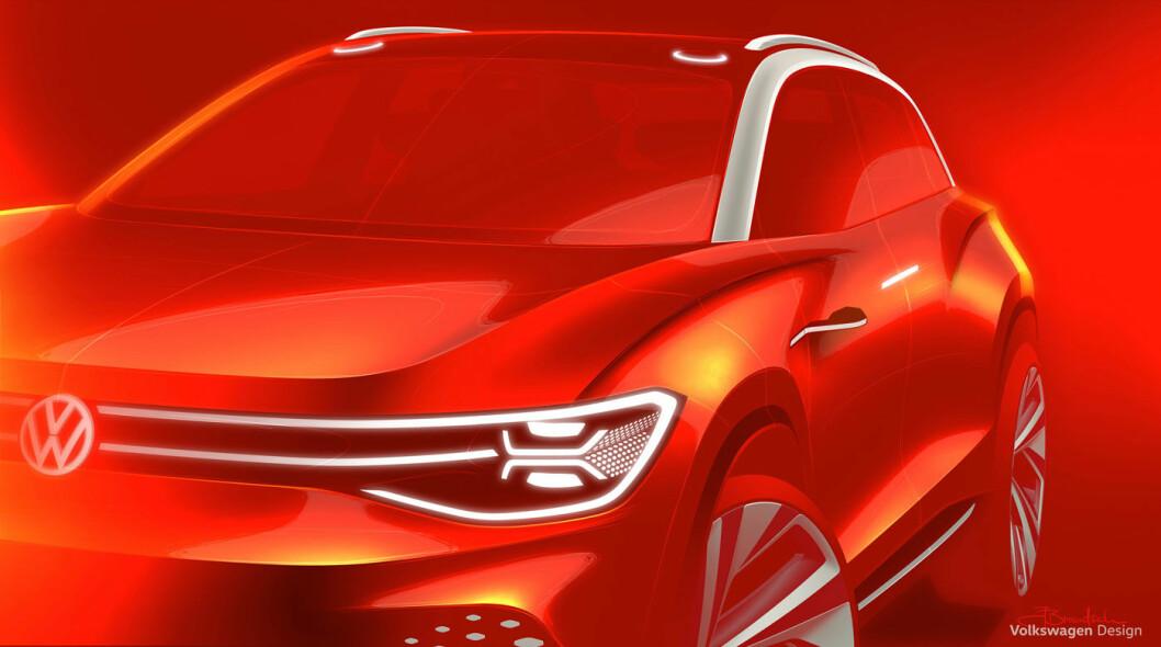 SPENNENDE KONSEPT: Om et par uker viser VW denne store el-SUV-en i levende live. Om to år er den på veiene. Foto: Volkswagen AG
