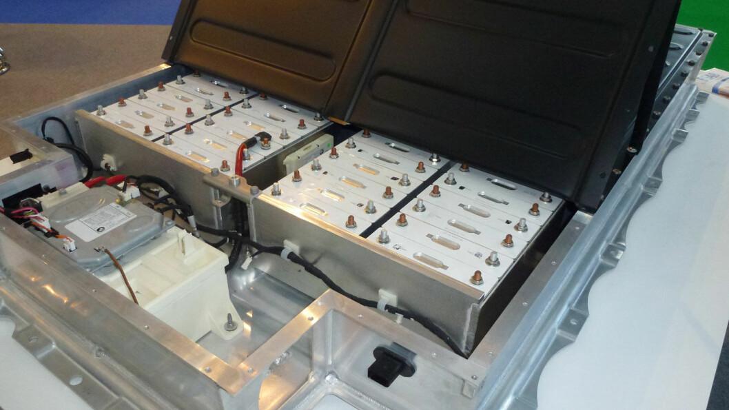 BATTERI-JAKT: Det spisser seg til jakten på råvarer til å produsere elbil-batterier som dette. Foto: Wikipedia