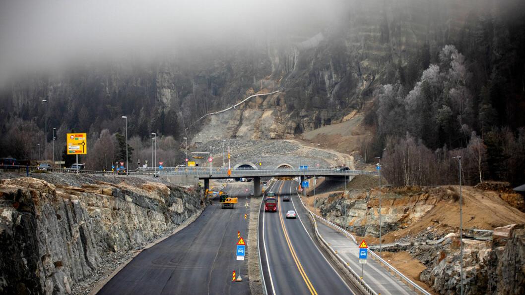 ÅPNER I 2019: E18 gjennom Telemark er en av de mest trafikkerte strekningene hvor ny firefelts vei blir klar i løpet av året. Foto: Tomm W. Christiansen