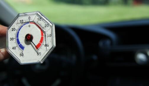 Opp mot 70 grader i bilen