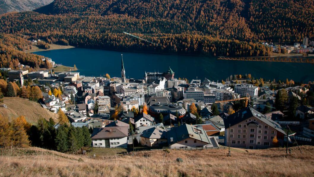OL-BYEN: Elegante St. Moritz er kanskje verdens mest kjente vinterlandsby. Da OL ble arrangert her i 1928 stod tre nordmenn øverst på pallen. Foto: Peter Raaum