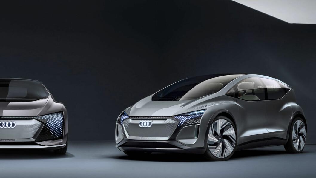 NESTE AUDI: Konseptbilen AI:EM viser hvordan Audi tenker seg bilen utpå 2020-tallet.