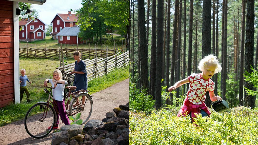 EMILS RIKE: Småland er akkurat som vi kjenner det fra Astrid Lindgrens bøker. Foto: Johan Willner/Visit Sweden og Måns Fornander/Visit Sweden
